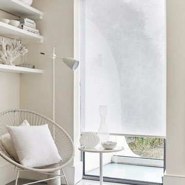 white made to measure living room roller blind-ISSEY-WHITE
