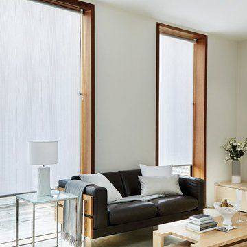 White Living Room Roller Blind-OPAL-WHITE