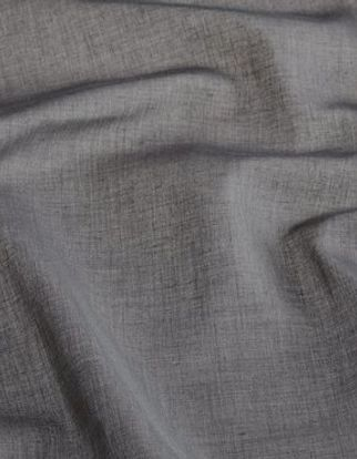 Dark grey coloured curtain fabric in a swirling style